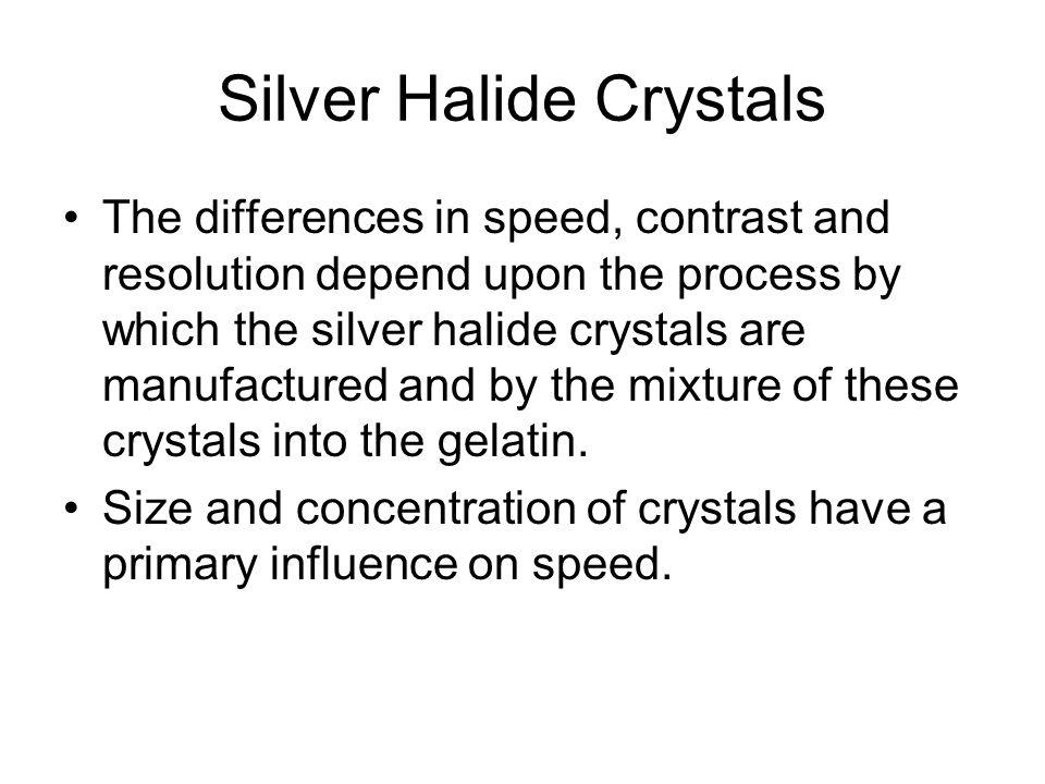 Silver Halide Crystals