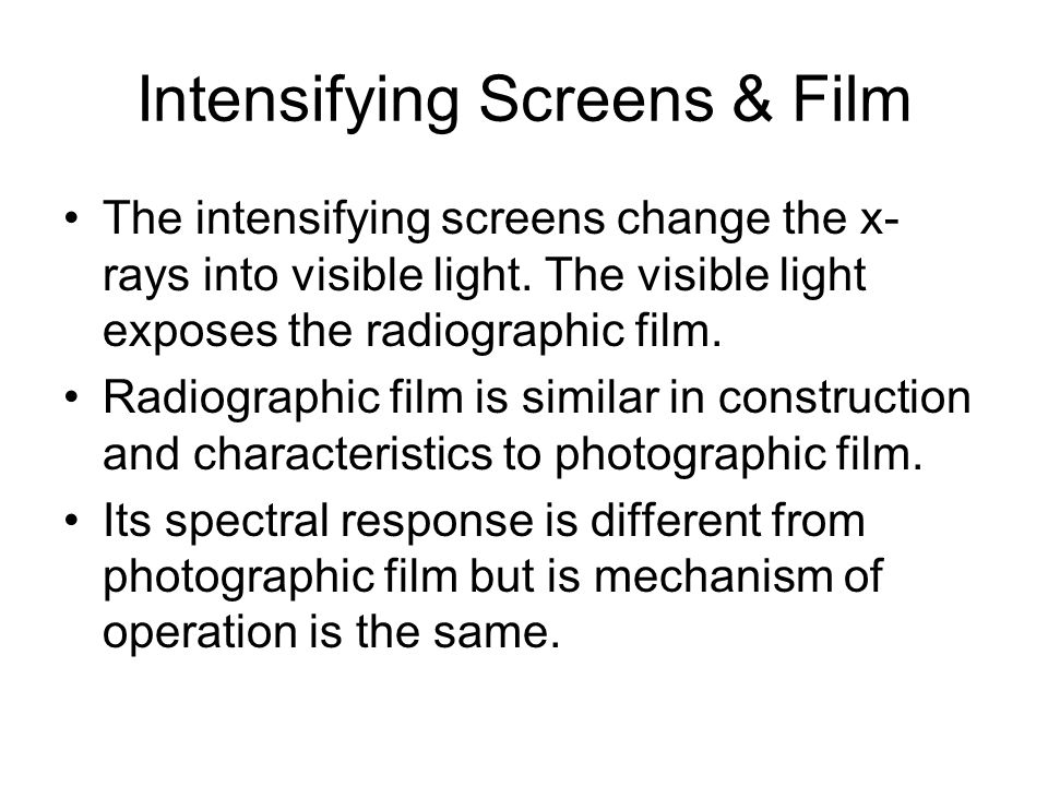 Intensifying Screens & Film