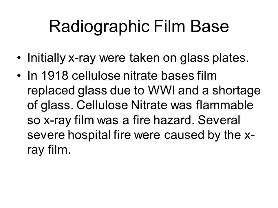 Radiographic Film Base