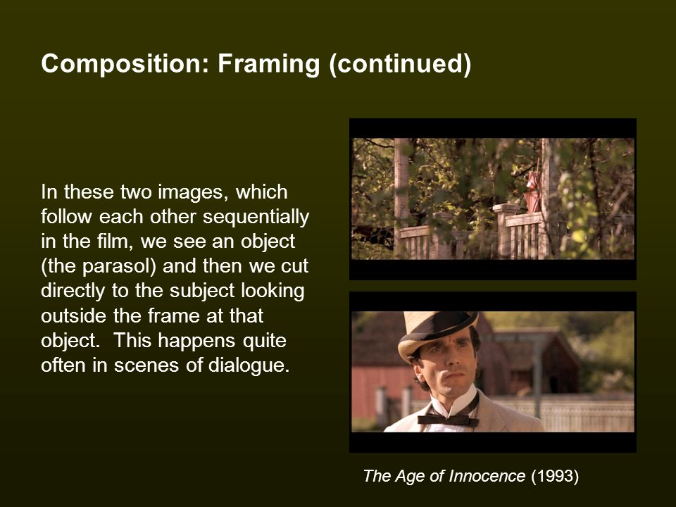 Composition: Framing (continued)
