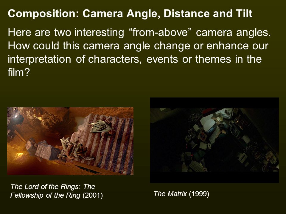 Composition: Camera Angle, Distance and Tilt