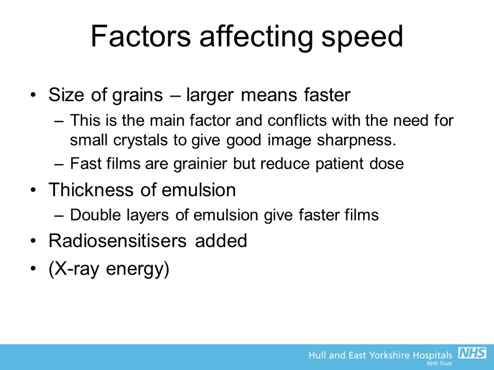 Factors affecting speed