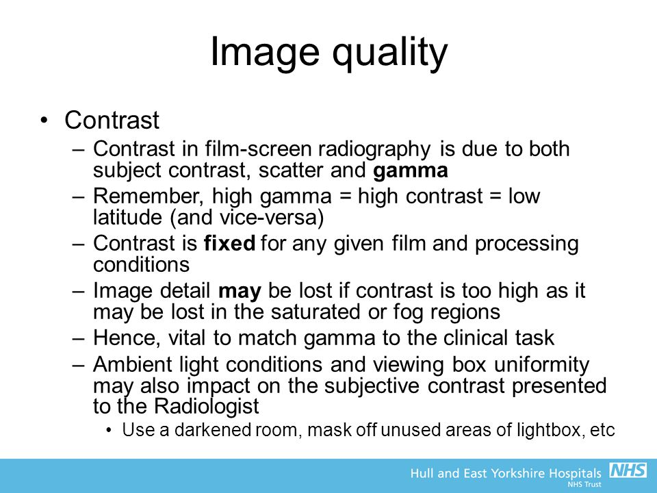 Image quality Contrast