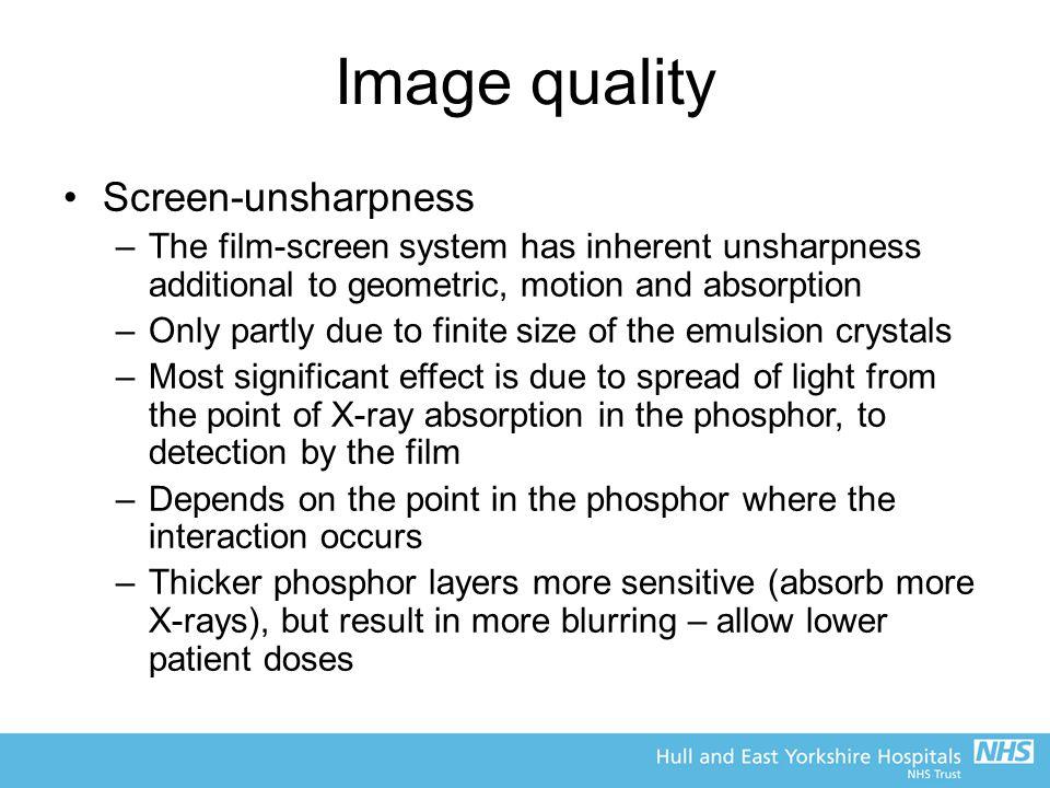 Image quality Screen-unsharpness