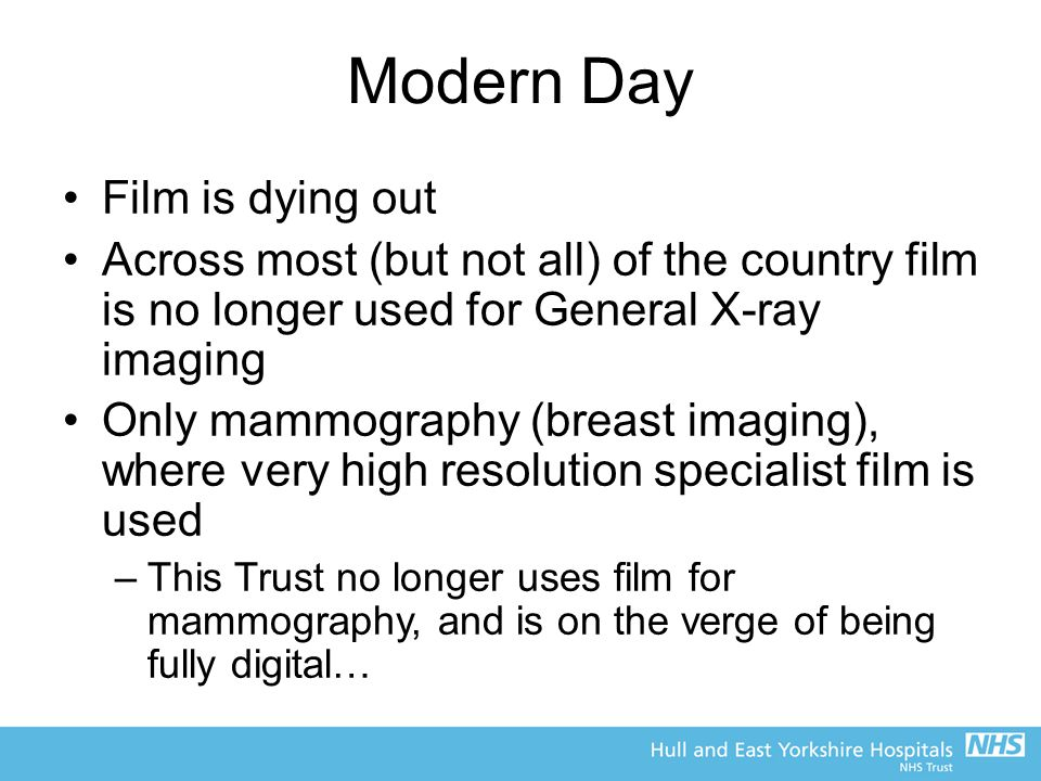 Modern Day Film is dying out