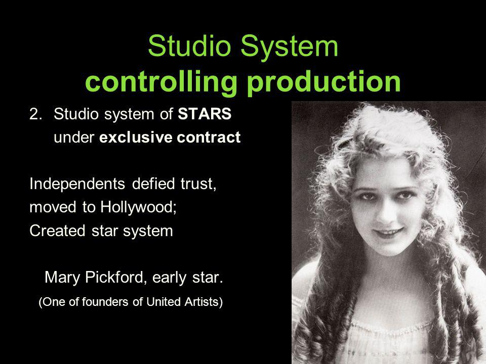 Studio System controlling production