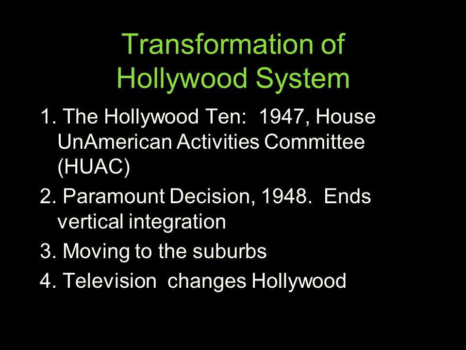 Transformation of Hollywood System