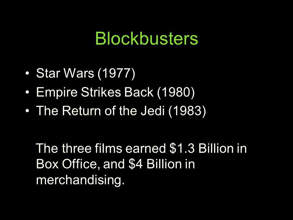 Blockbusters Star Wars (1977) Empire Strikes Back (1980)