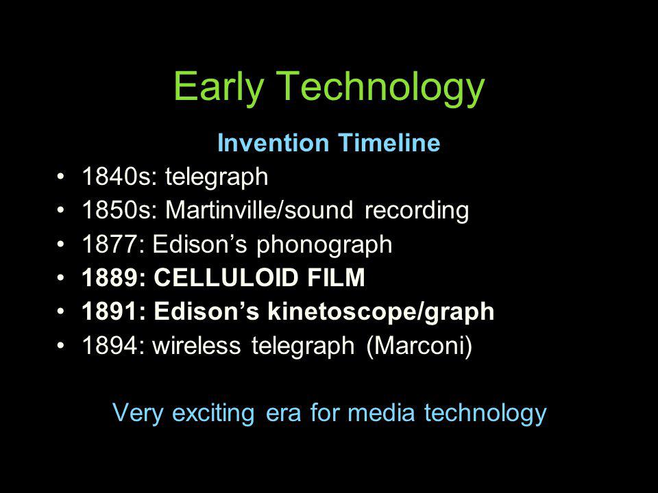 Very exciting era for media technology
