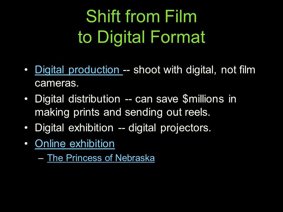 Shift from Film to Digital Format
