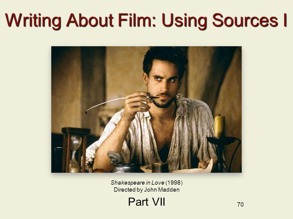 Writing About Film: Using Sources I