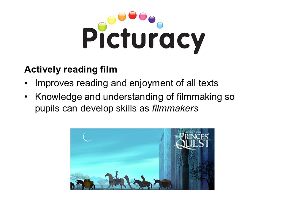 Actively reading film Improves reading and enjoyment of all texts.