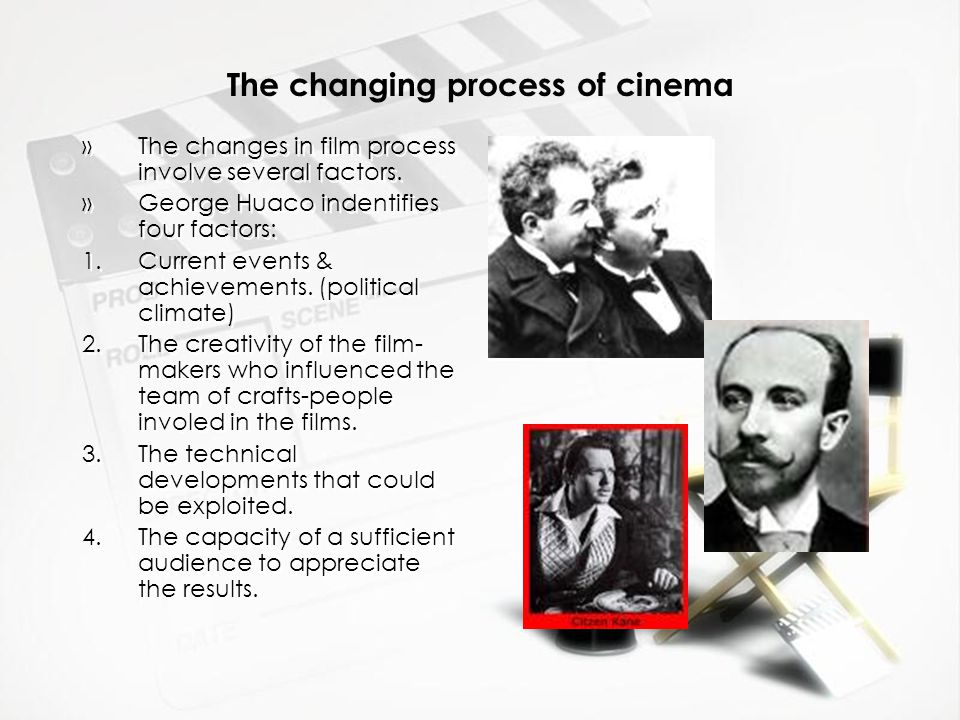 The changing process of cinema