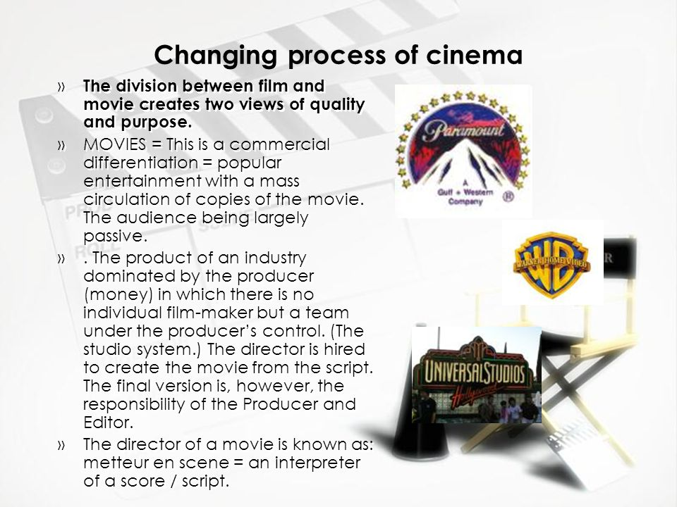 Changing process of cinema