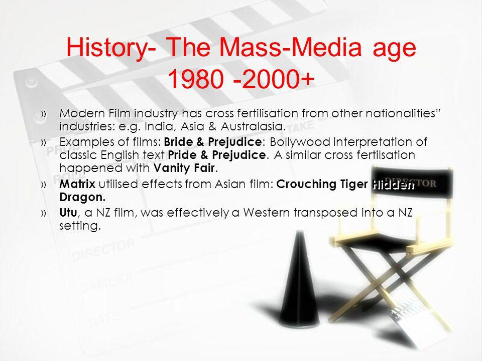 History- The Mass-Media age 1980 -2000+