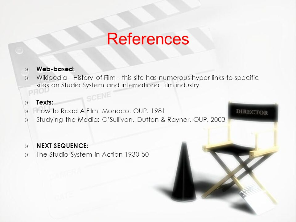 References Web-based:
