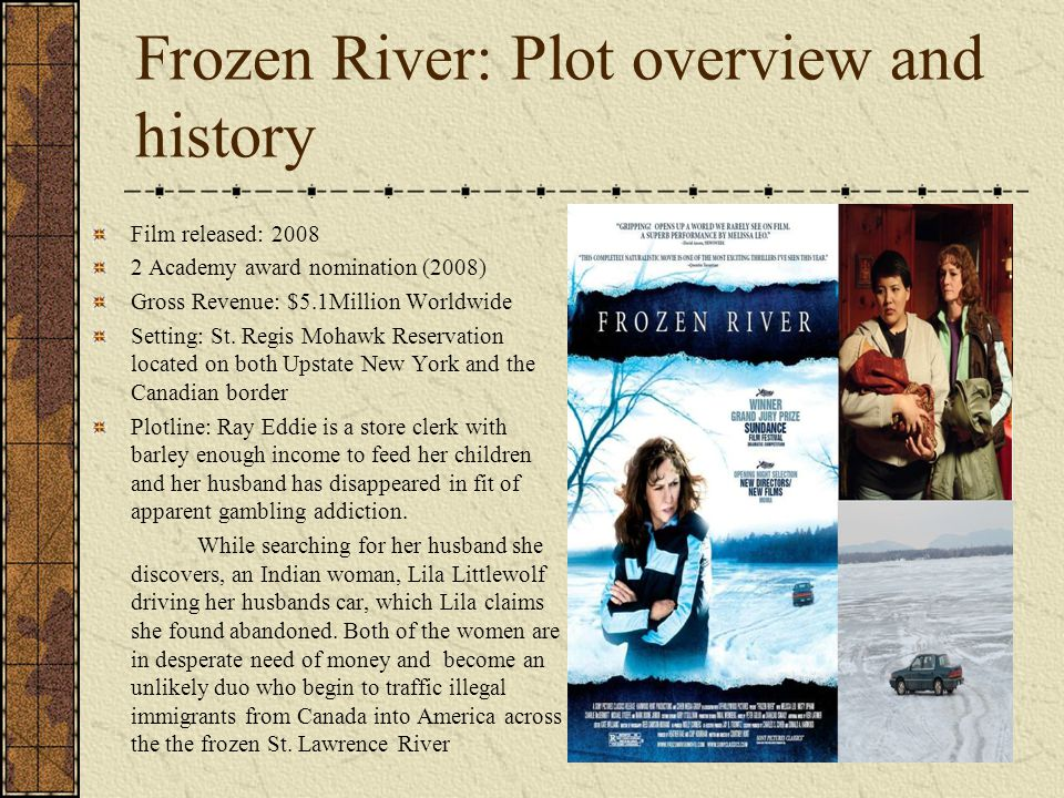 Frozen River: Plot overview and history