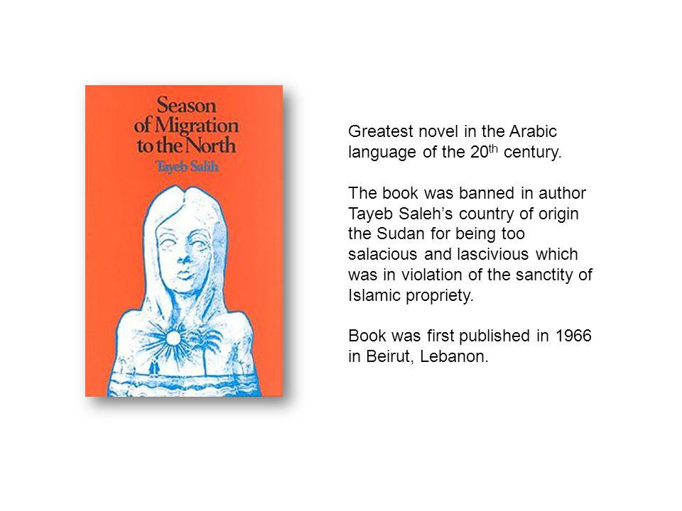 Greatest novel in the Arabic language of the 20th century.