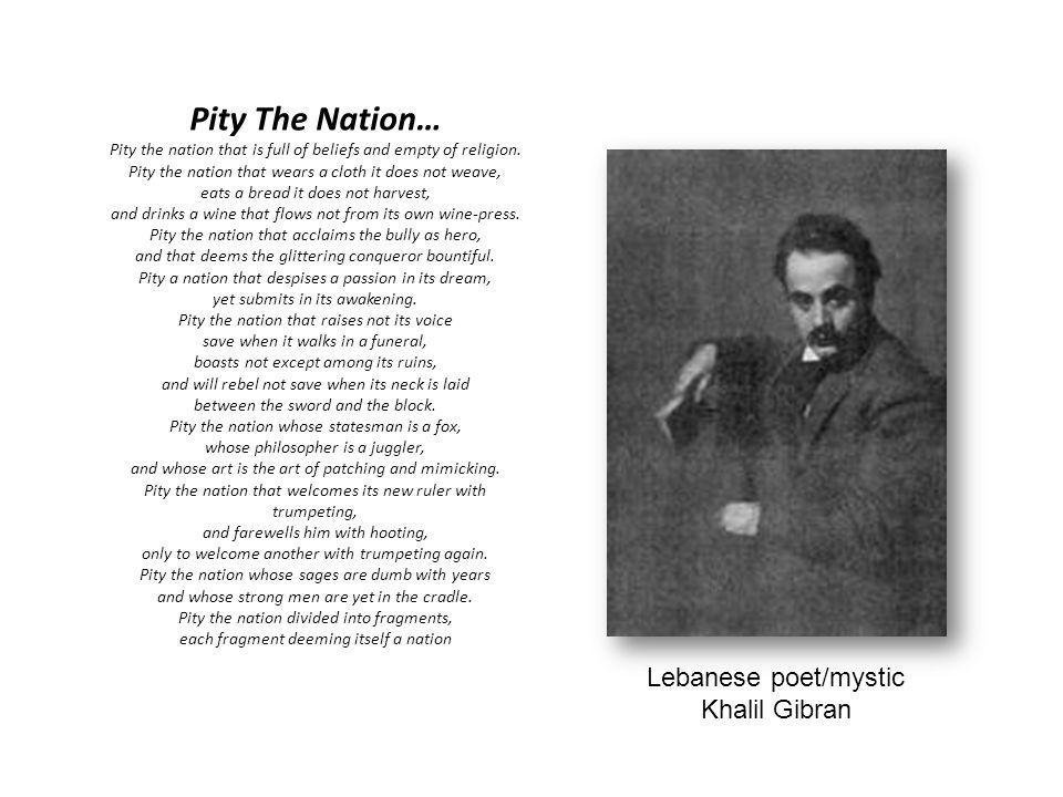 Lebanese poet/mystic Khalil Gibran