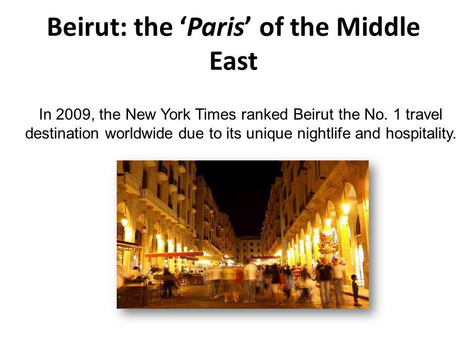 Beirut: the 'Paris' of the Middle East