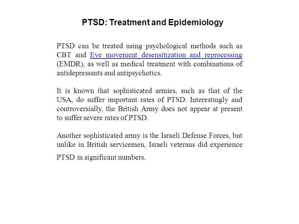 PTSD: Treatment and Epidemiology