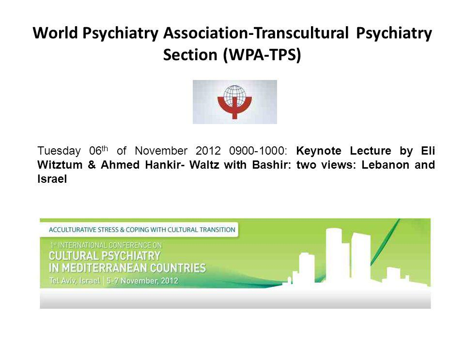 World Psychiatry Association-Transcultural Psychiatry Section (WPA-TPS)