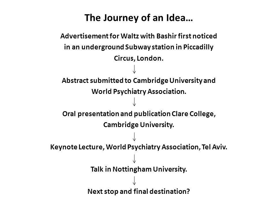 The Journey of an Idea…