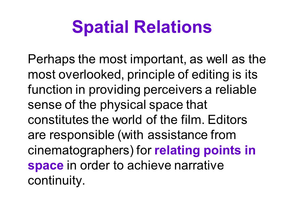 Spatial Relations