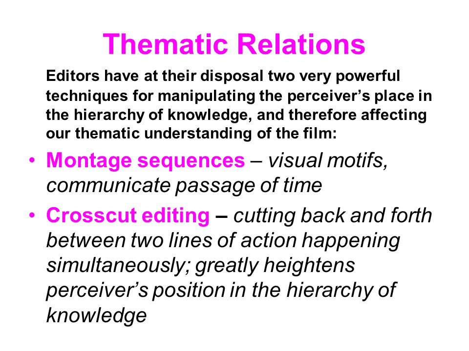 Thematic Relations