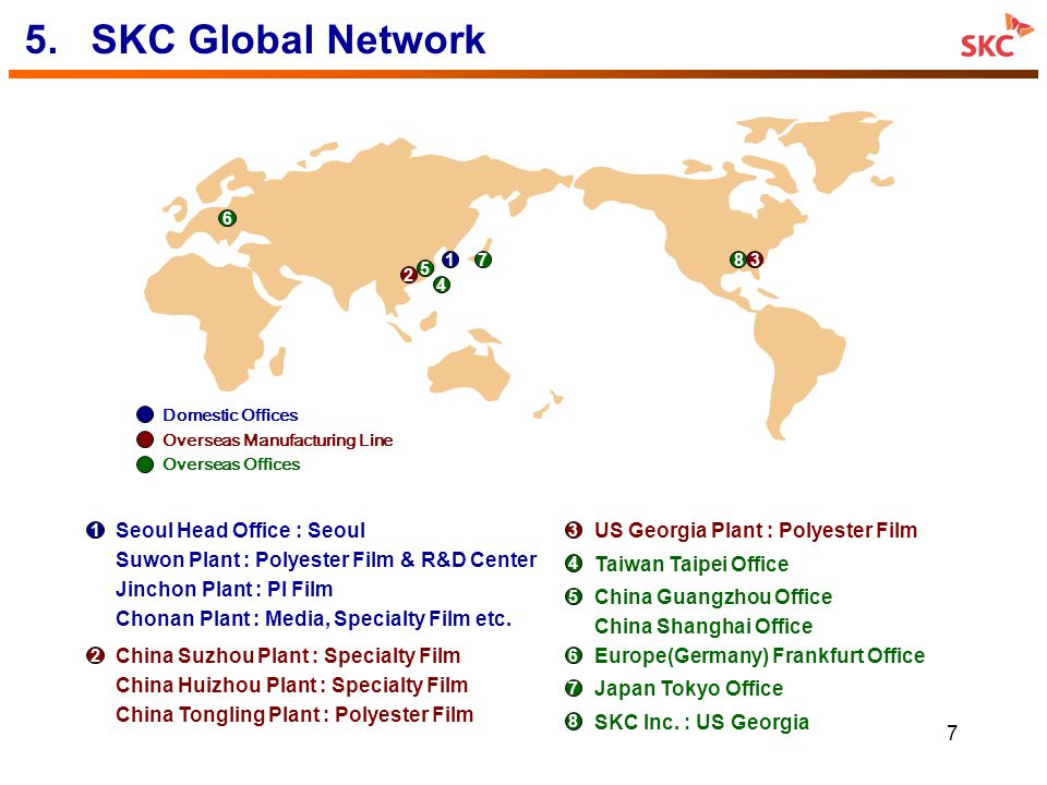 5. SKC Global Network US Georgia Plant : Polyester Film