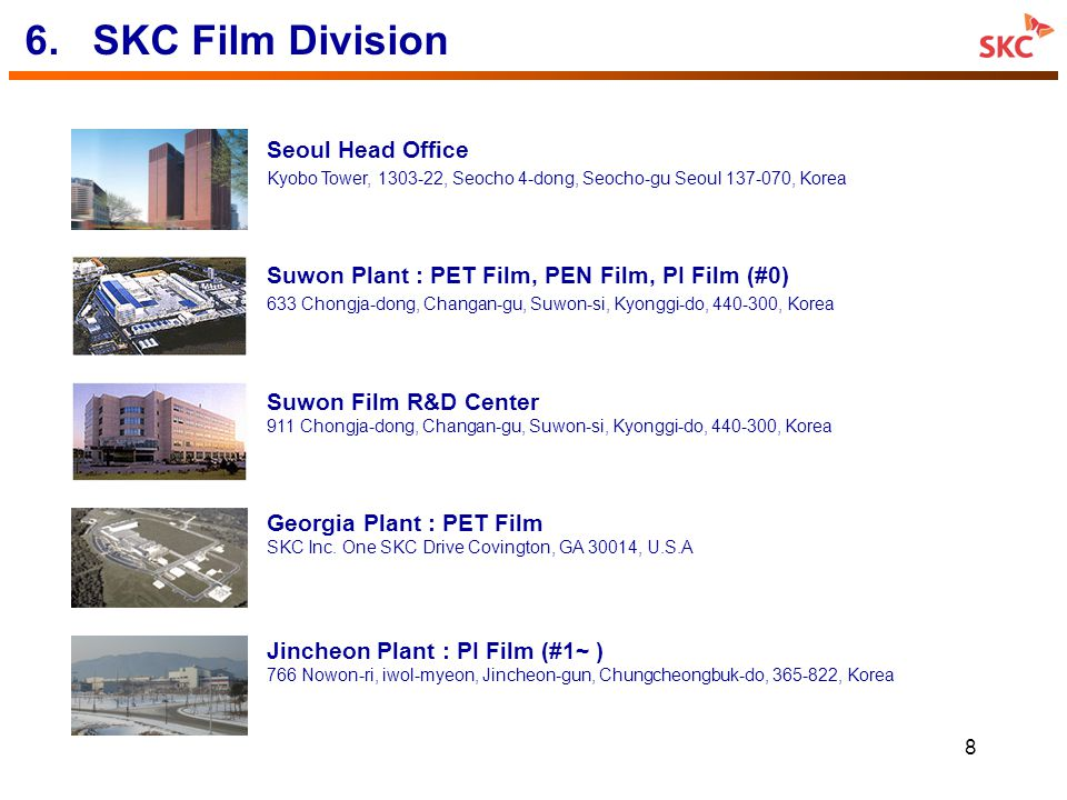 6. SKC Film Division Seoul Head Office
