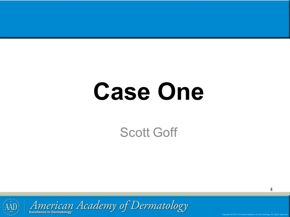 Case One Scott Goff