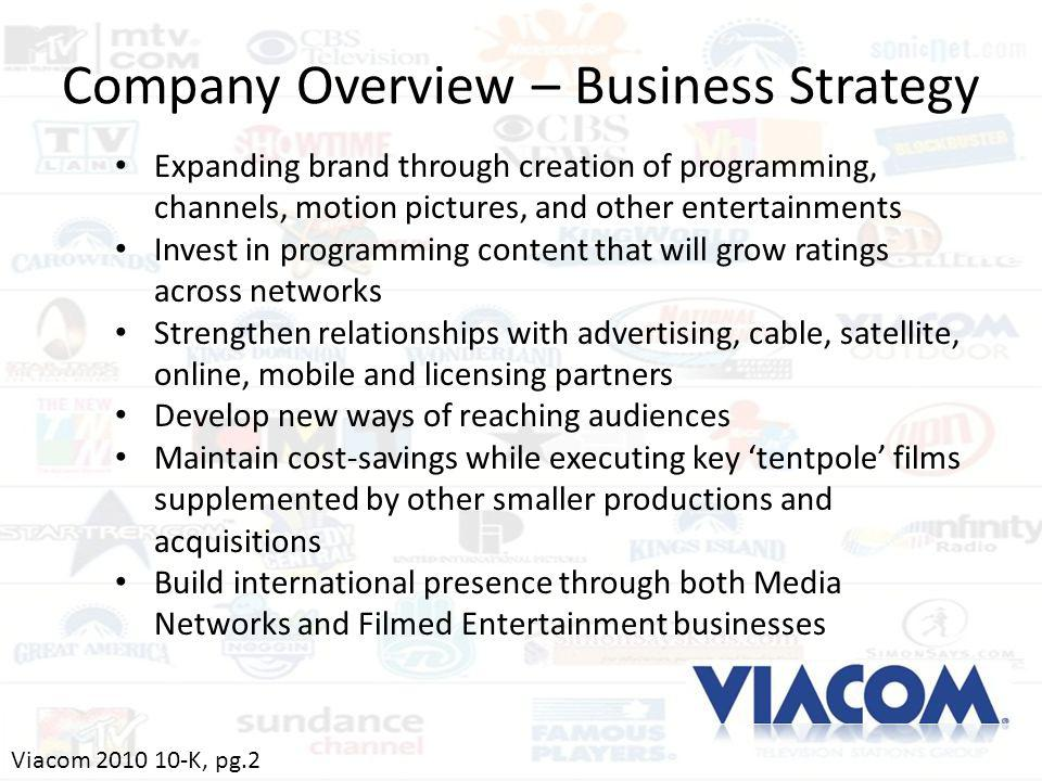 Company Overview – Business Strategy