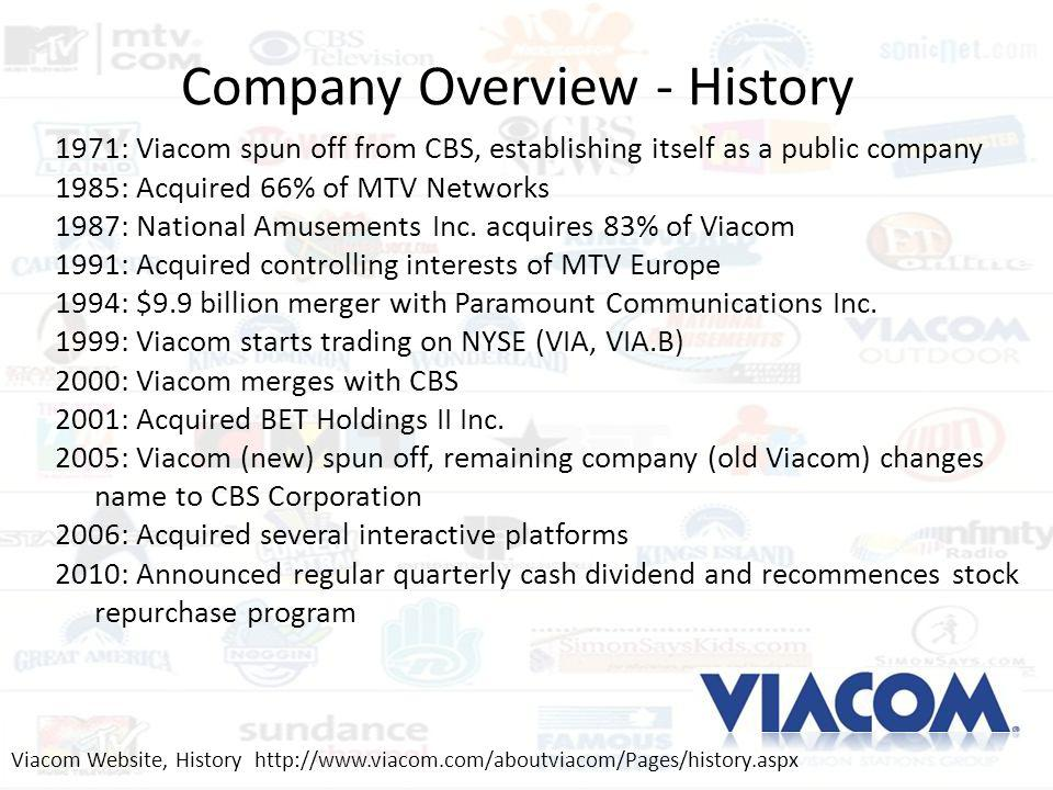 Company Overview - History