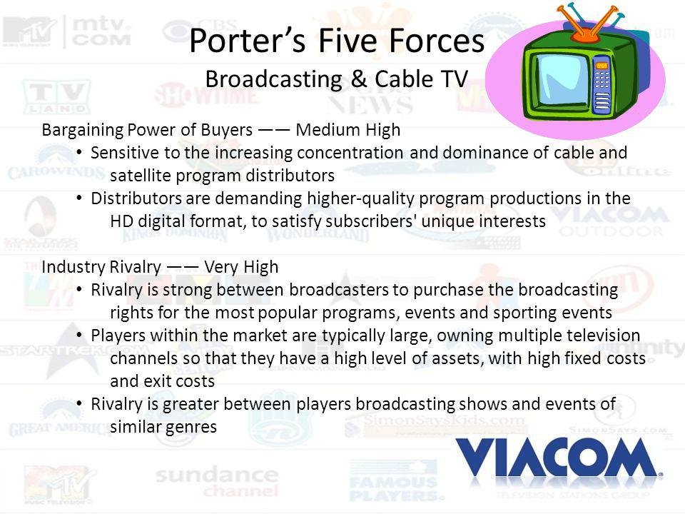 Porter's Five Forces Broadcasting & Cable TV