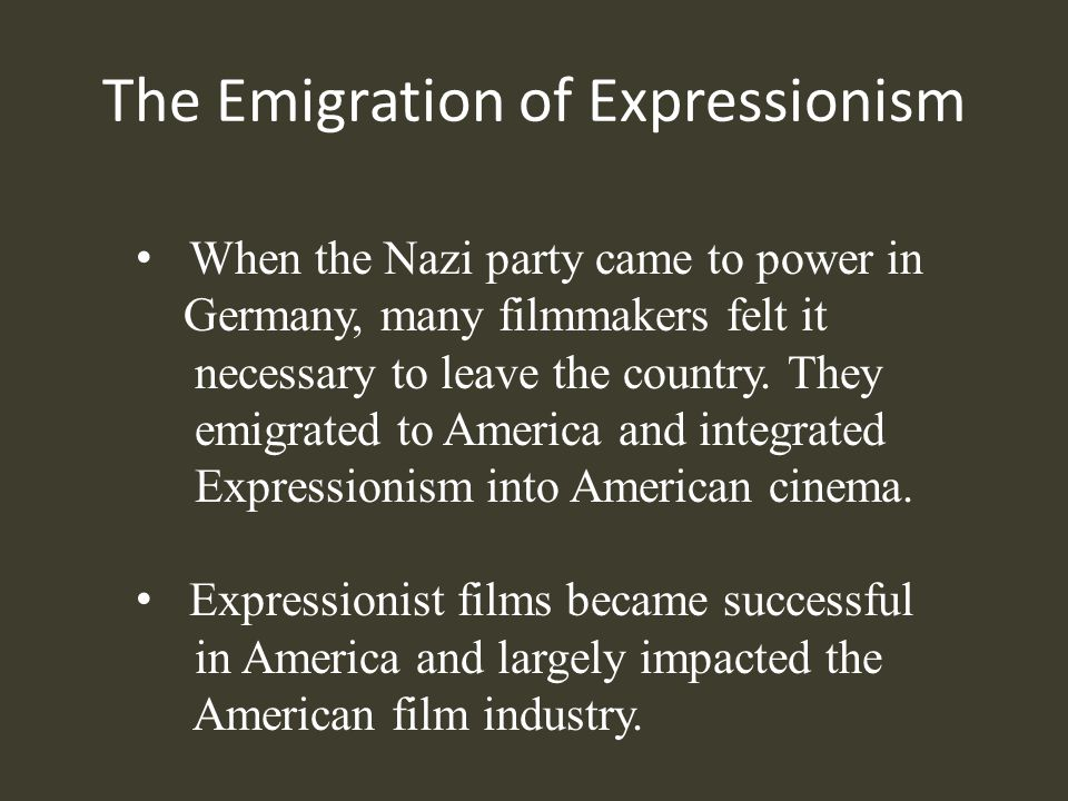 The Emigration of Expressionism