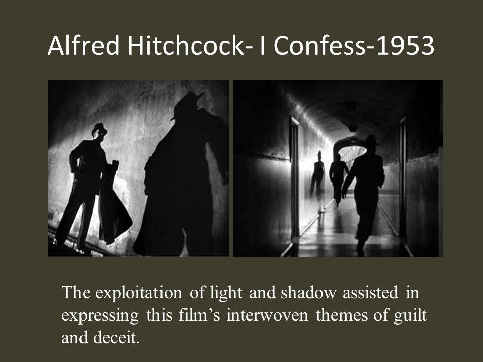 Alfred Hitchcock- I Confess-1953