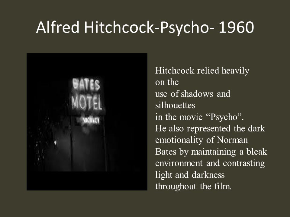 Alfred Hitchcock-Psycho- 1960