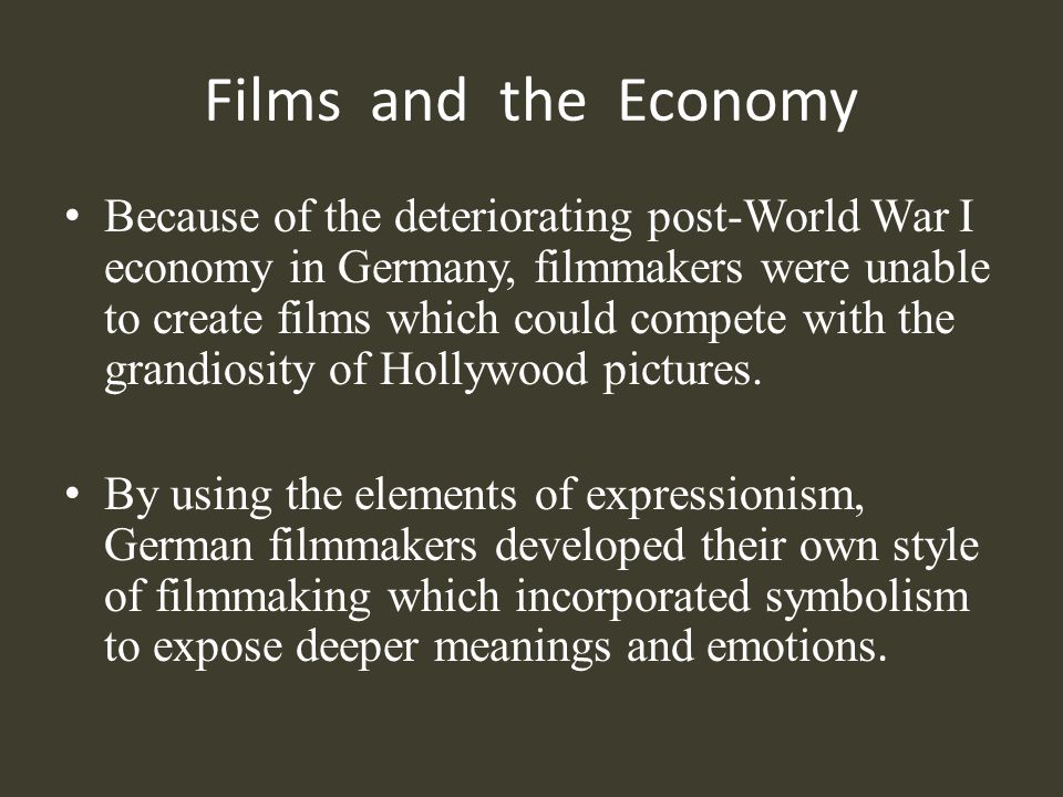 Films and the Economy