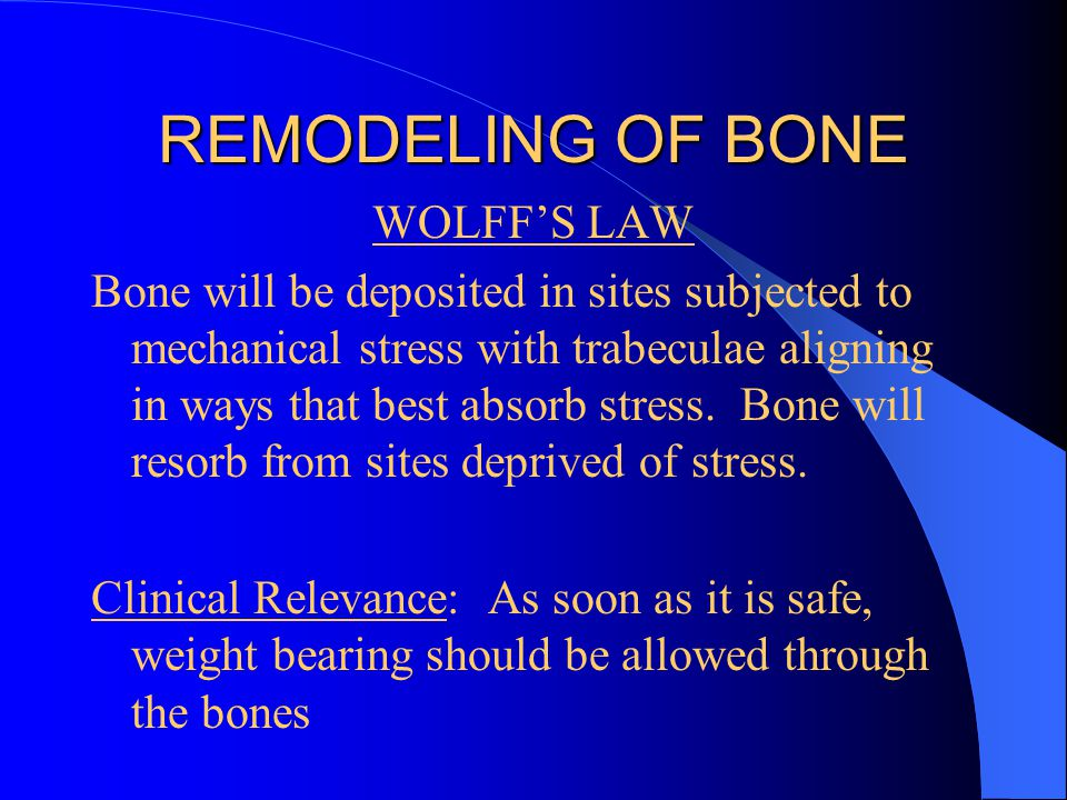 REMODELING OF BONE WOLFF'S LAW