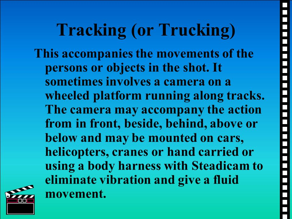 Tracking (or Trucking)