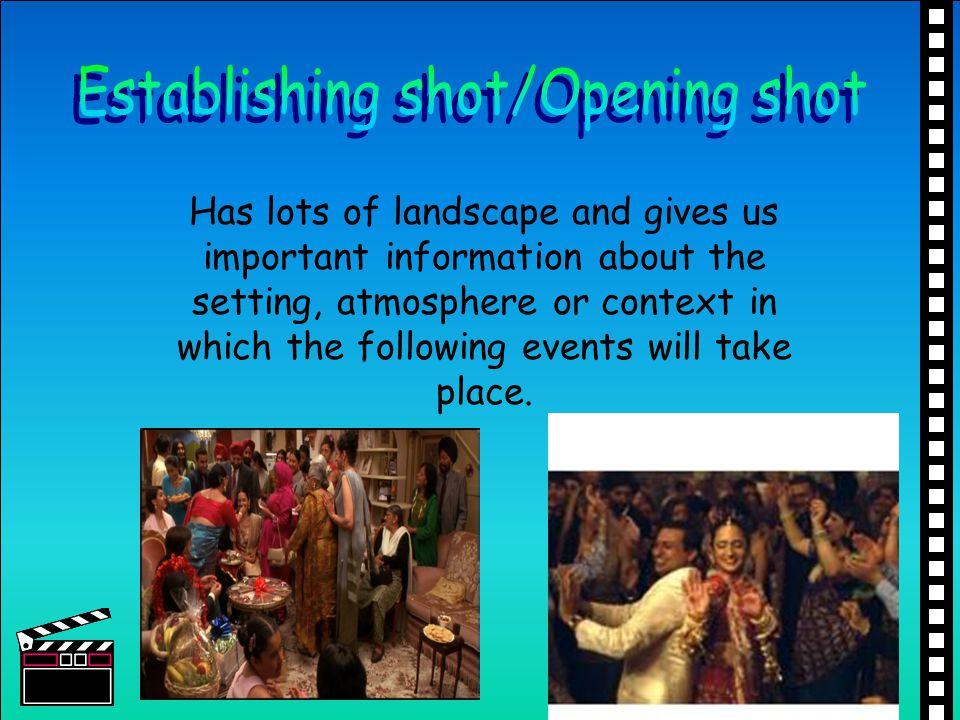 Establishing shot/Opening shot