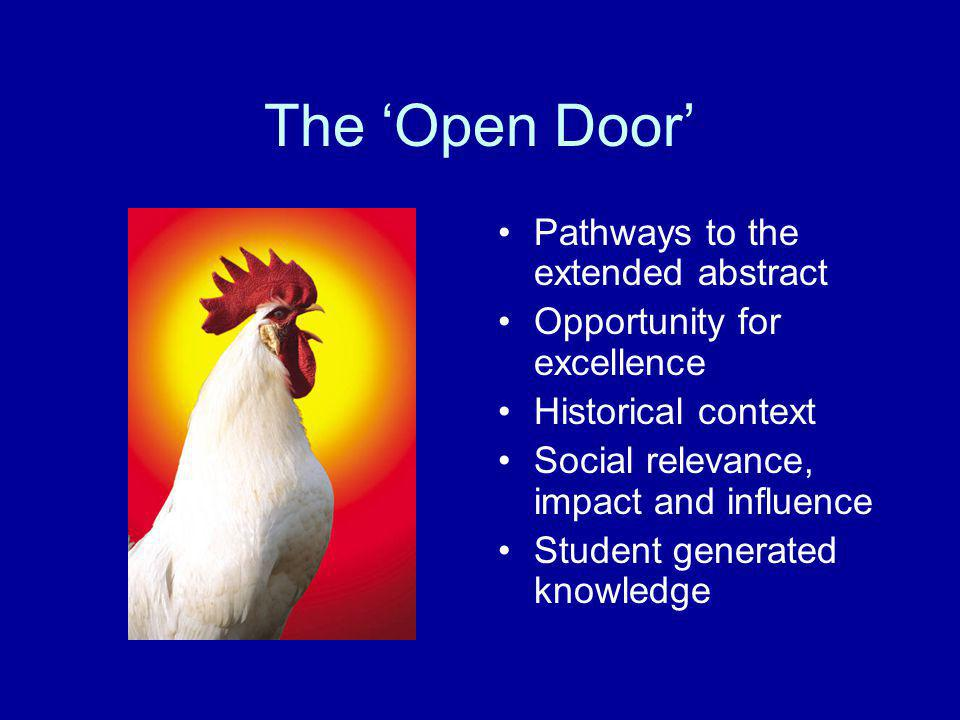 The 'Open Door' Pathways to the extended abstract