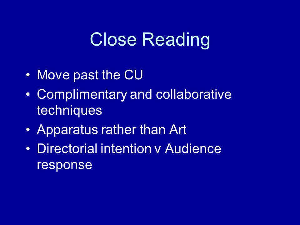 Close Reading Move past the CU