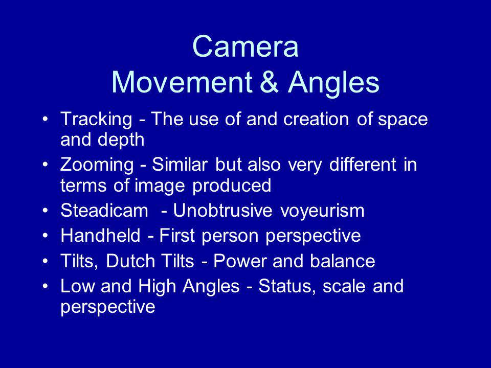 Camera Movement & Angles