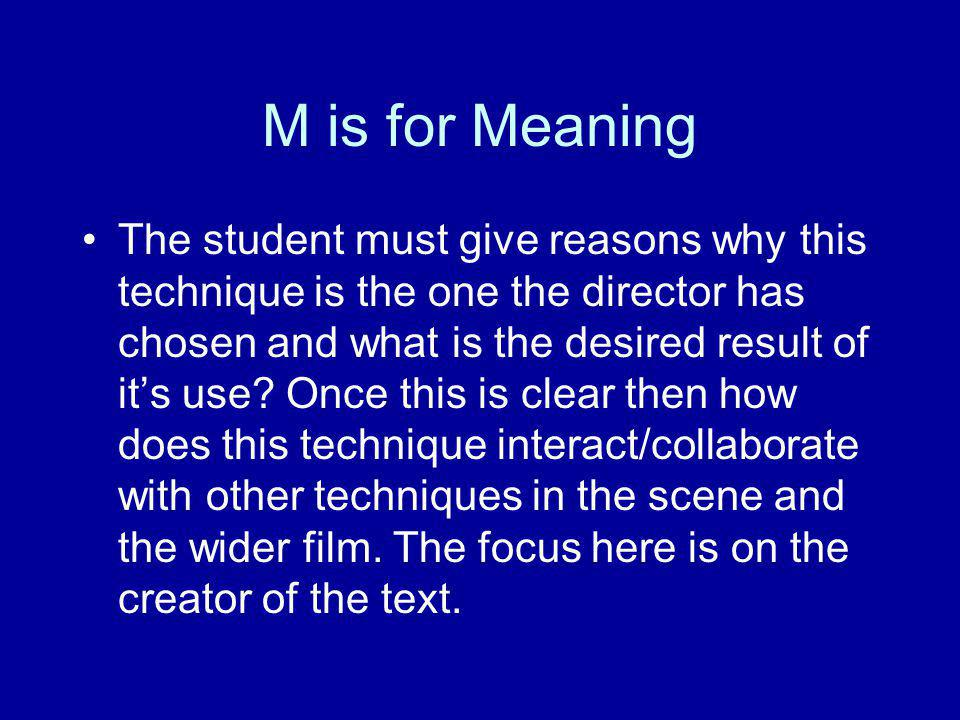 M is for Meaning