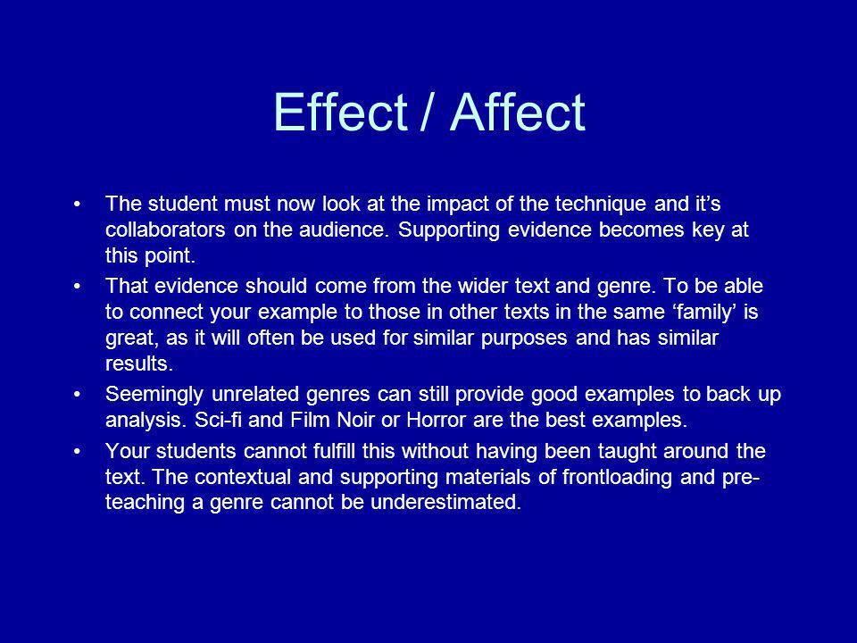 Effect / Affect
