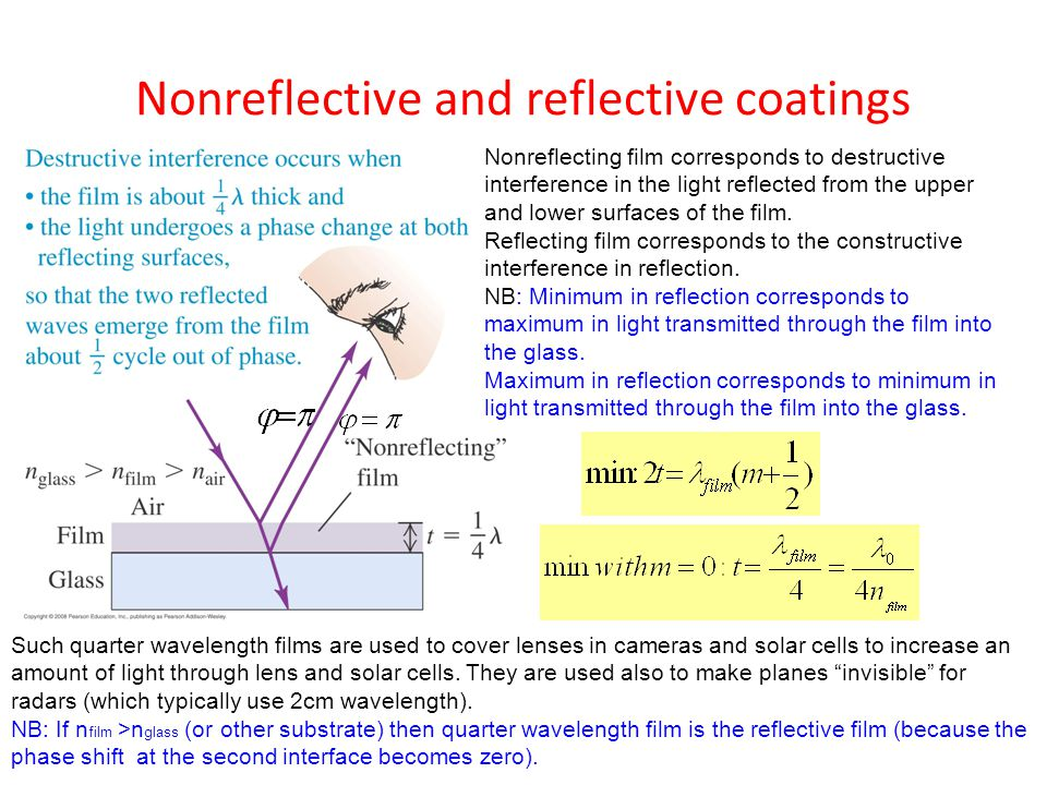Nonreflective and reflective coatings