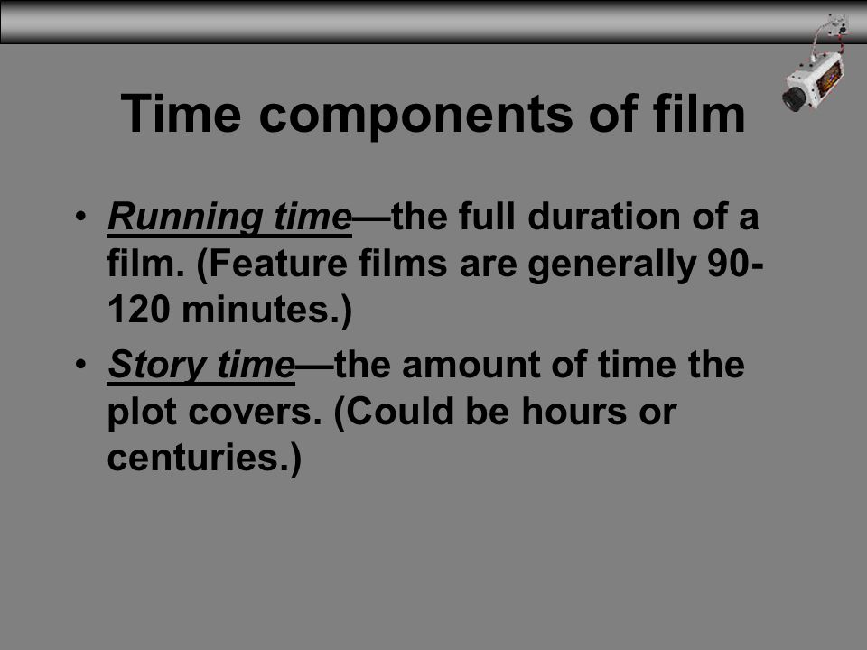 Time components of film