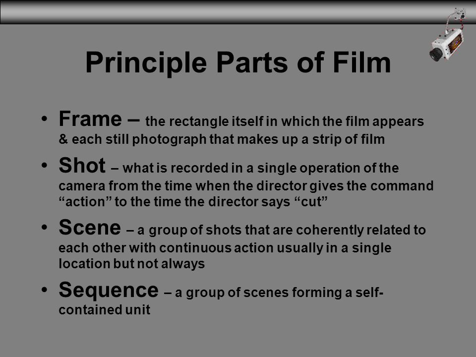 Principle Parts of Film
